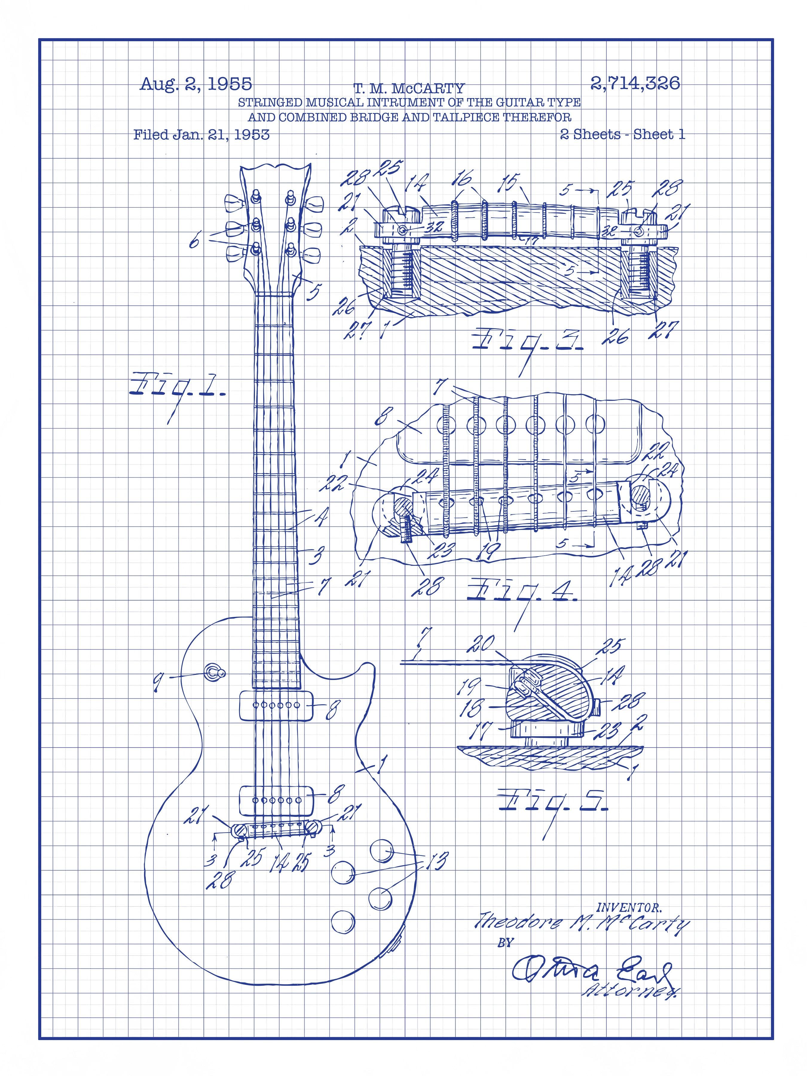 Les Paul Guitar - T.M. McCarty - 1955 - 2,714,326