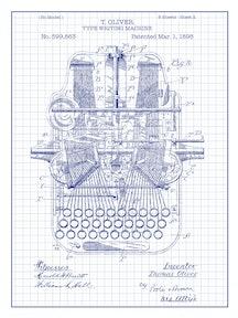 Type Writing Machine - T. Oliver - 1898 - 599,863