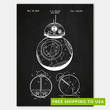 Inked and Screened Sci-Fi Patent Prints