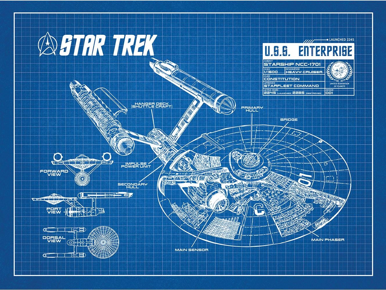 Star Trek - U.S.S. Enterprise Blueprint