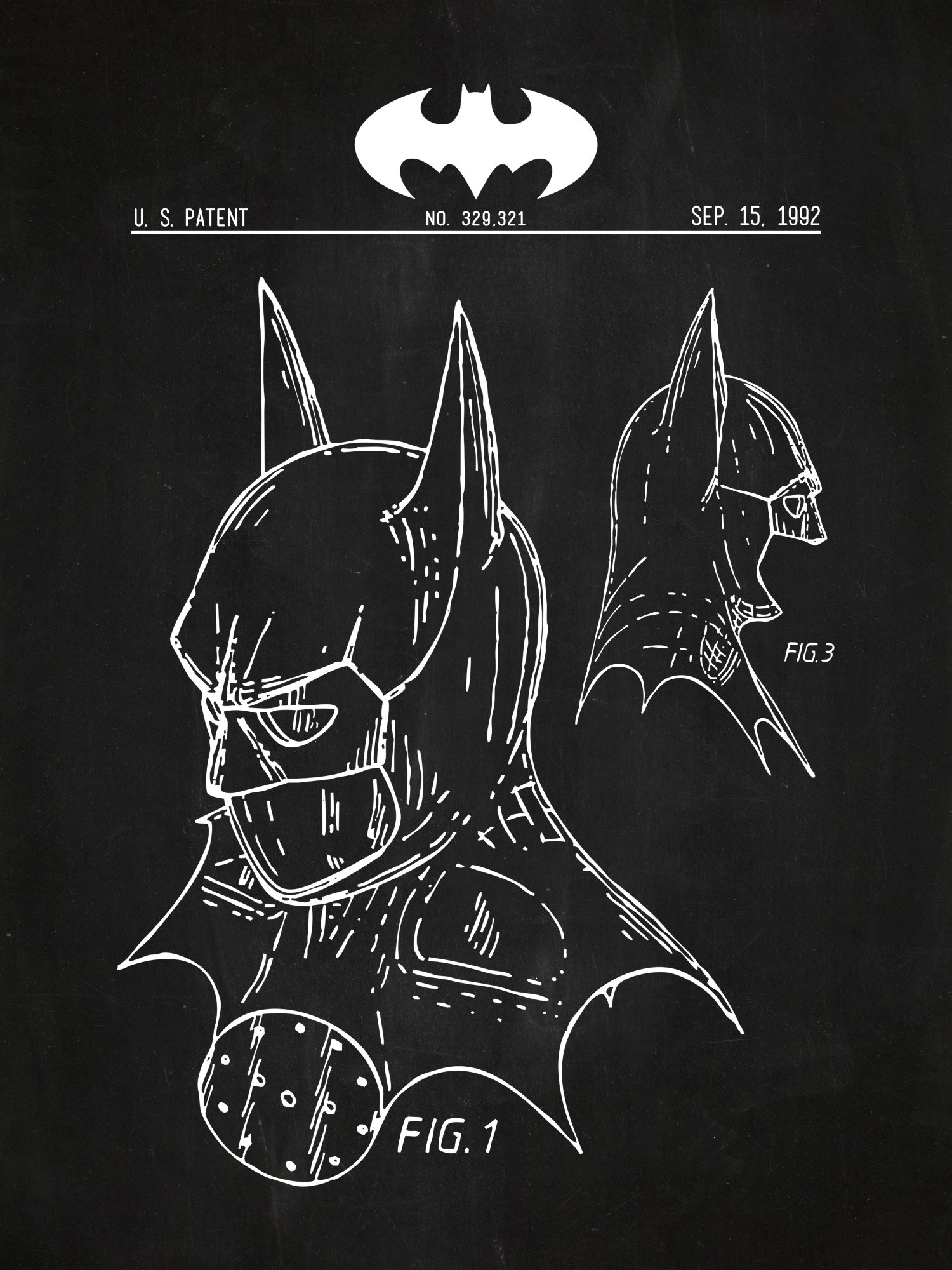 Batman Mask Patent
