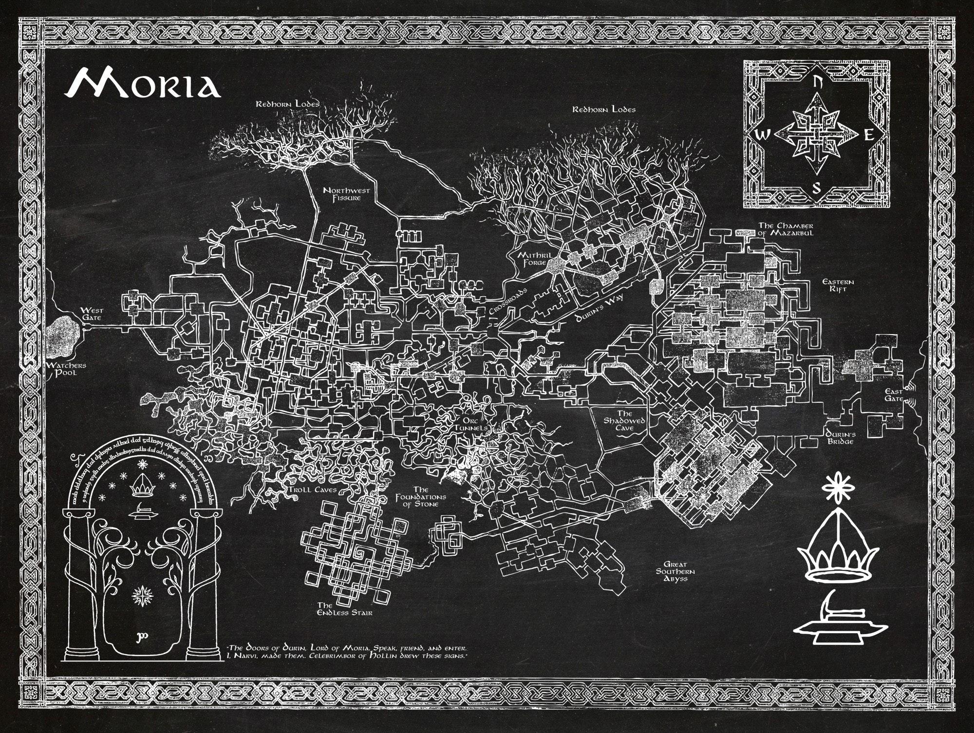 LOTR - Moria Map