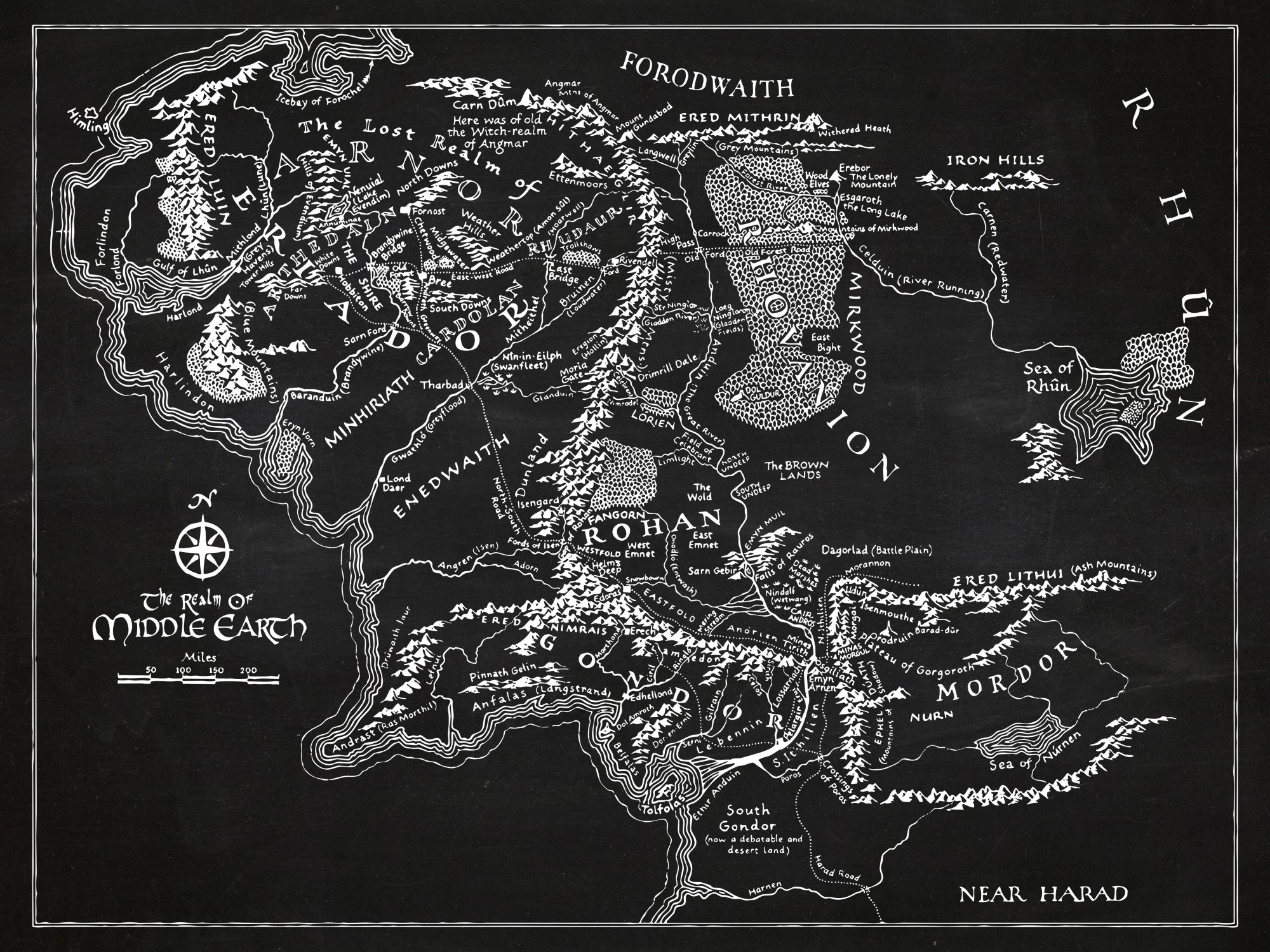LOTR - Middle Earth Map