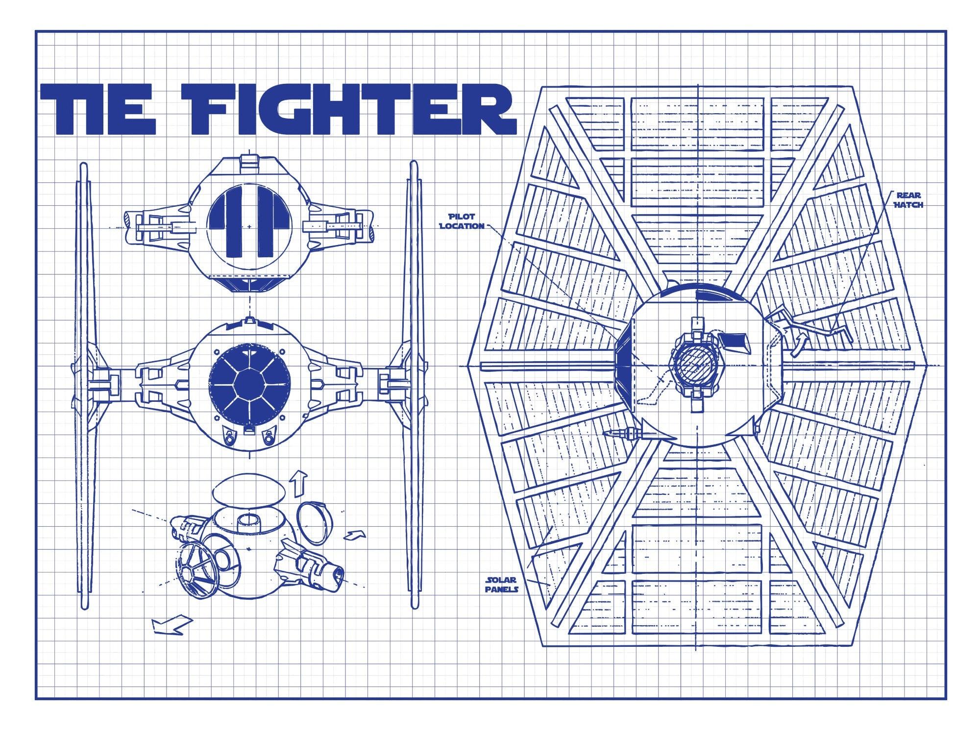 Star Wars - Tie Fighter (Horizontal Print)