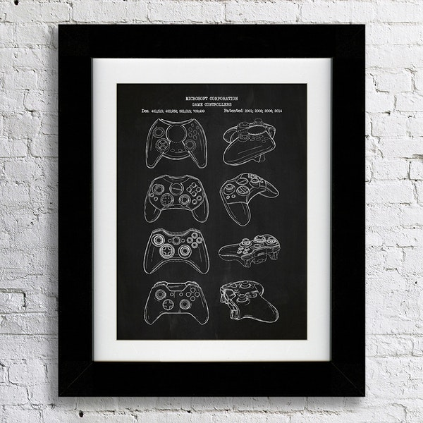 inked and screened video game patent prints lowest price and reviews at massdrop