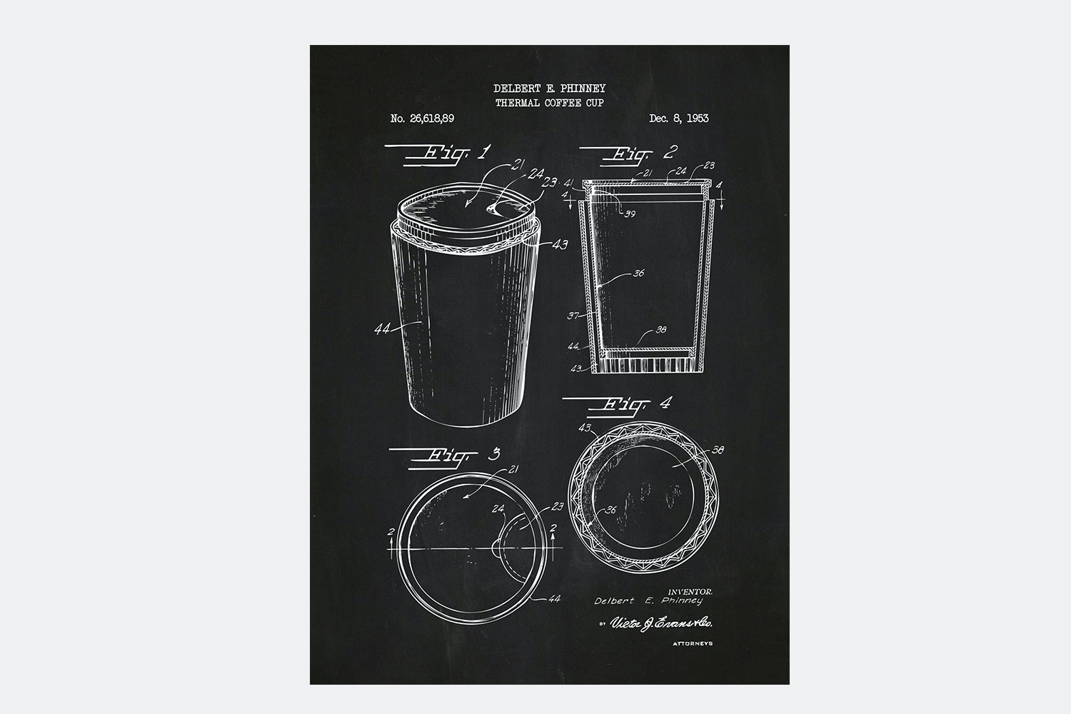 Thermal Coffee Cup - Chalkboard