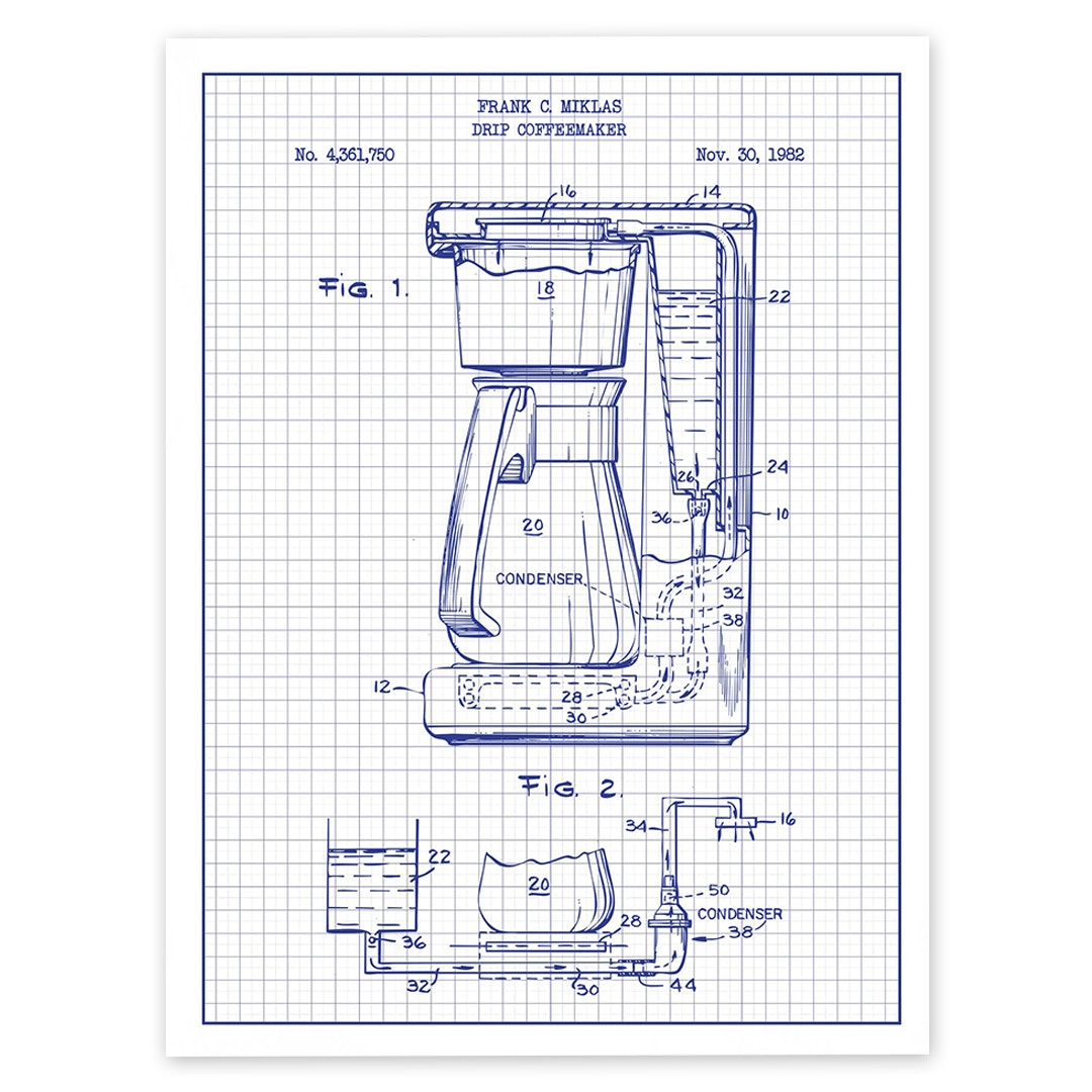 Inked and Screened Kitchen Tools Patent Prints