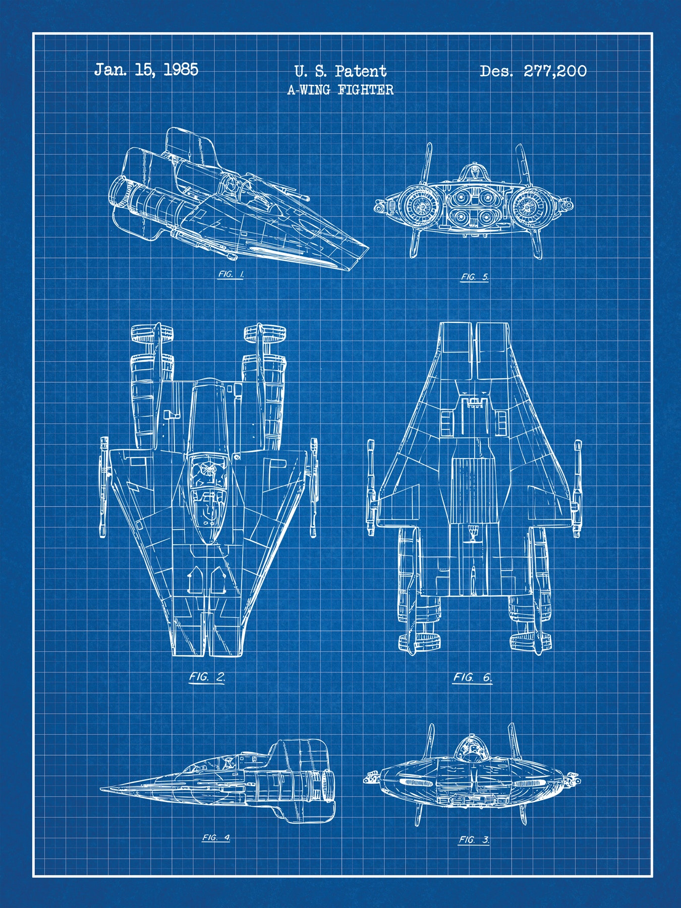 SP-SYFI-A-Wing-Fighter-277,200-Blue-Grid-White-Ink-24-Inches