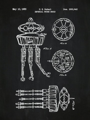 SP-SYFI-Imperial-Probe-Droid-268,942-Chalkboard-White-Ink-24-Inches