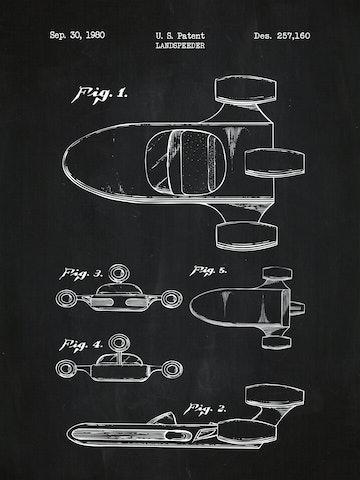 SP-SYFI-LANDSPEEDER-257,160-Chalkboard-White-Ink-24-Inches