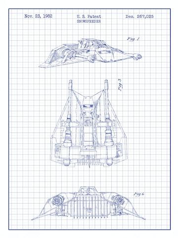 SP-SYFI-Snowspeeder-Ship-267,025-White-Grid-Blue-Ink-24-Inches