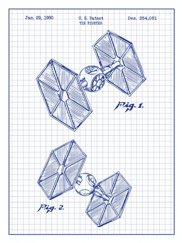 SP-SYFI-TIE-FIGHTER-254,081-White-Grid-Blue-Ink-24-Inches
