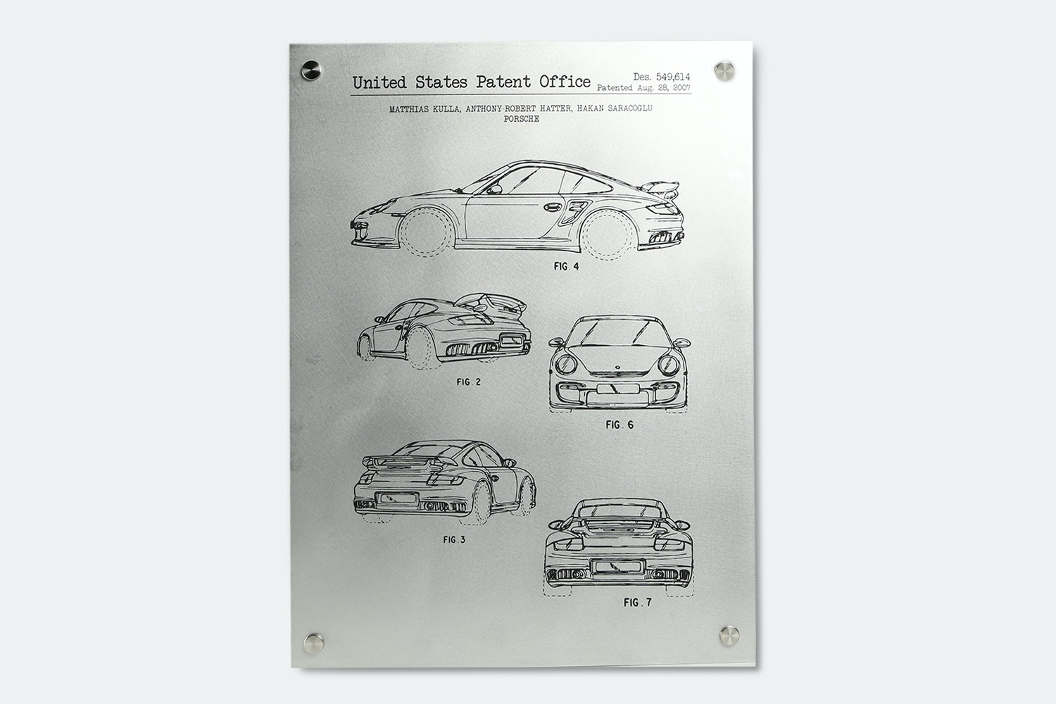 Inked & Screened Metal Automotive Prints