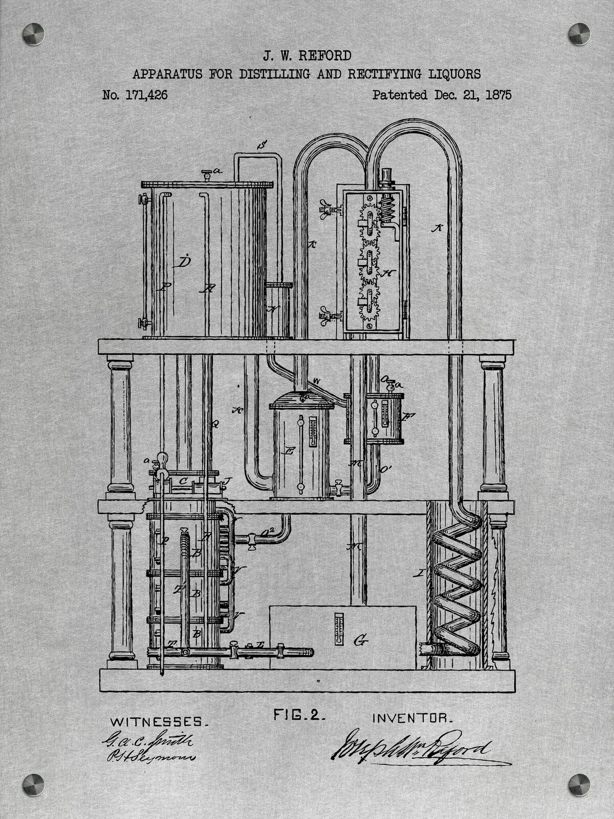 Apparatus for Distilling and Rectifying Liquors