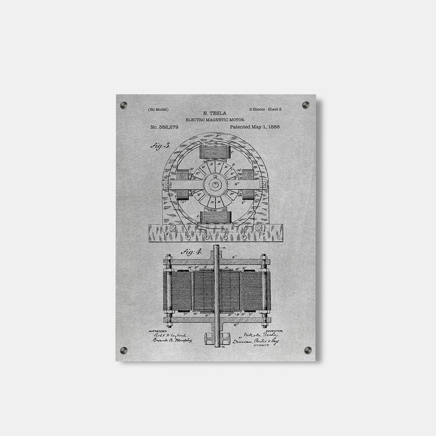 Inked and Screened Metal Patent Print Sale