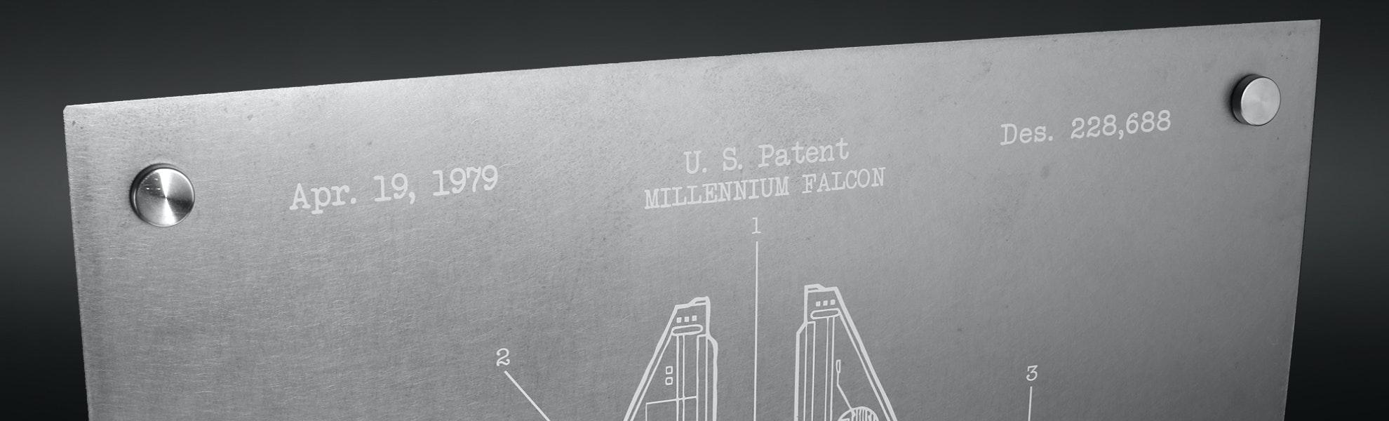 Inked & Screened Metal Patent Prints
