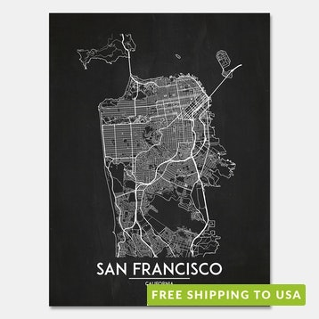 Inked & Screened Modern City Map Prints