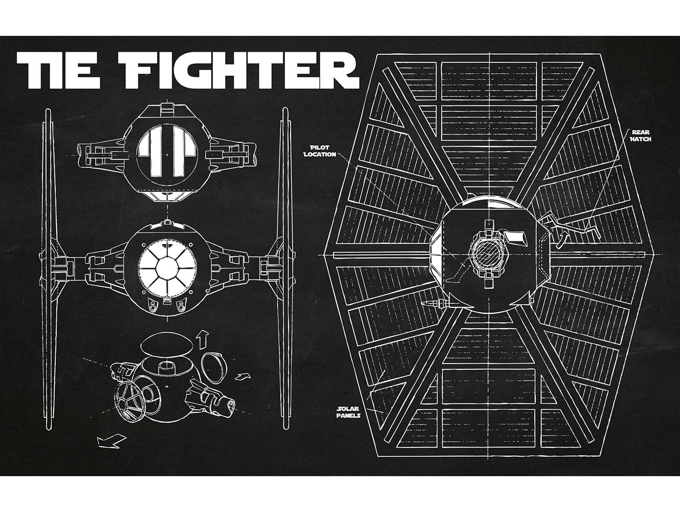 Stary Wars - Tie Fighter (Horizontal Print)