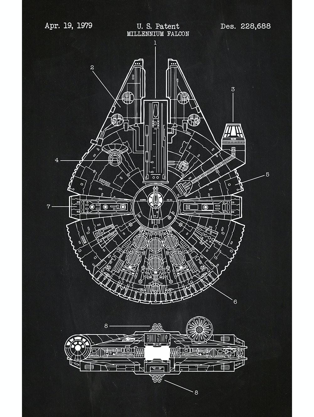 Star Wars - Millennium Falcon Patent - 228,688