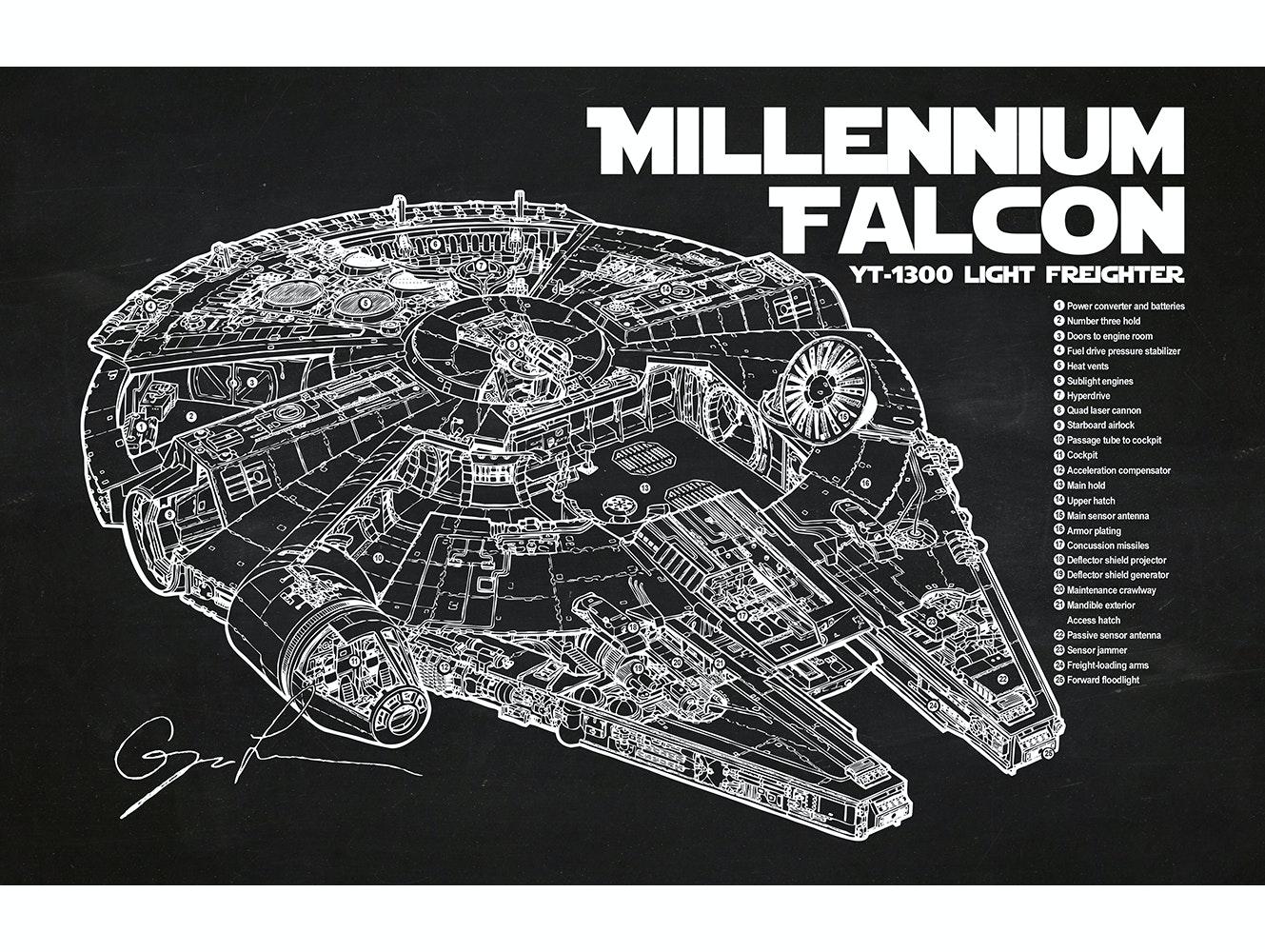 Star Wars - Millennium Falcon Cutaway