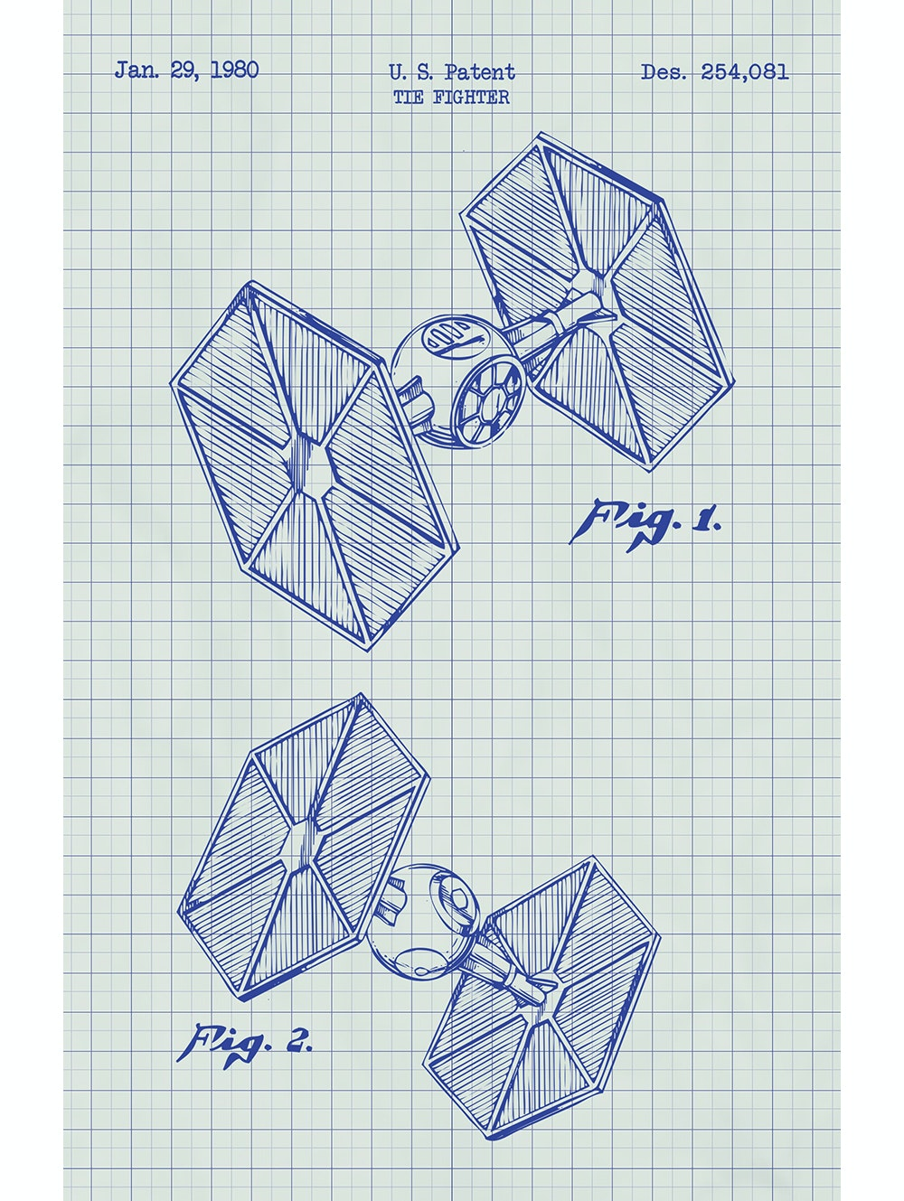 Star Wars - Tie Fighter - 254,081 (Vertical Print)