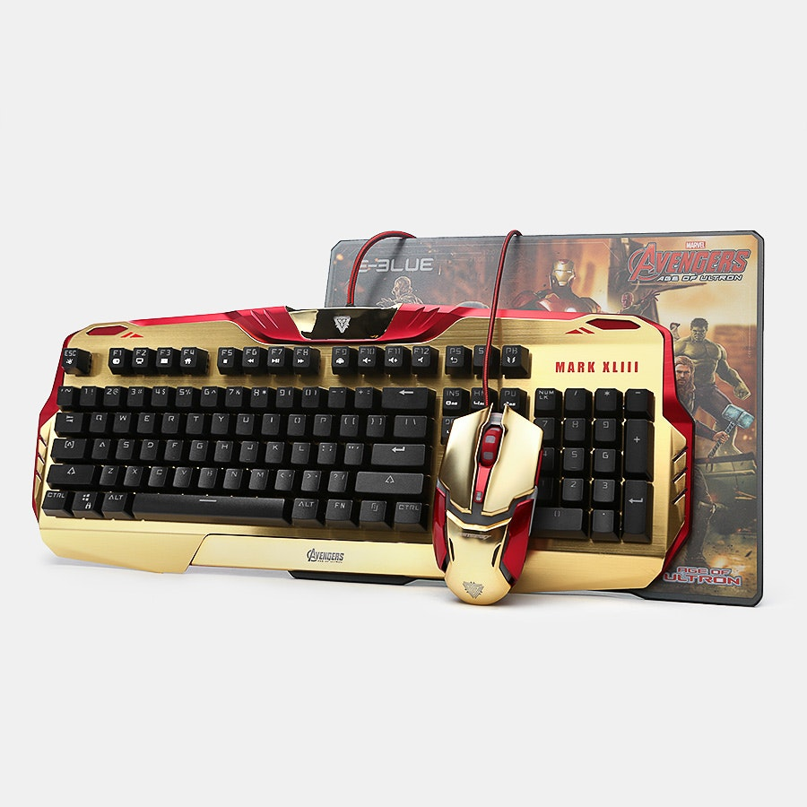 Iron Man Keyboard/Mouse/Mousepad Bundle