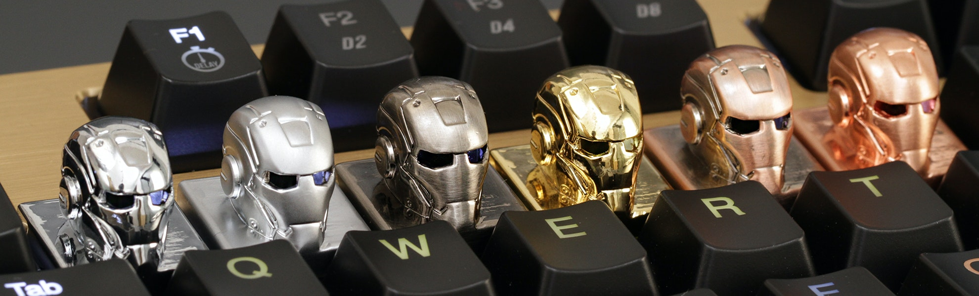 GeekKeys Metal Ironman Cherry MX Keycap