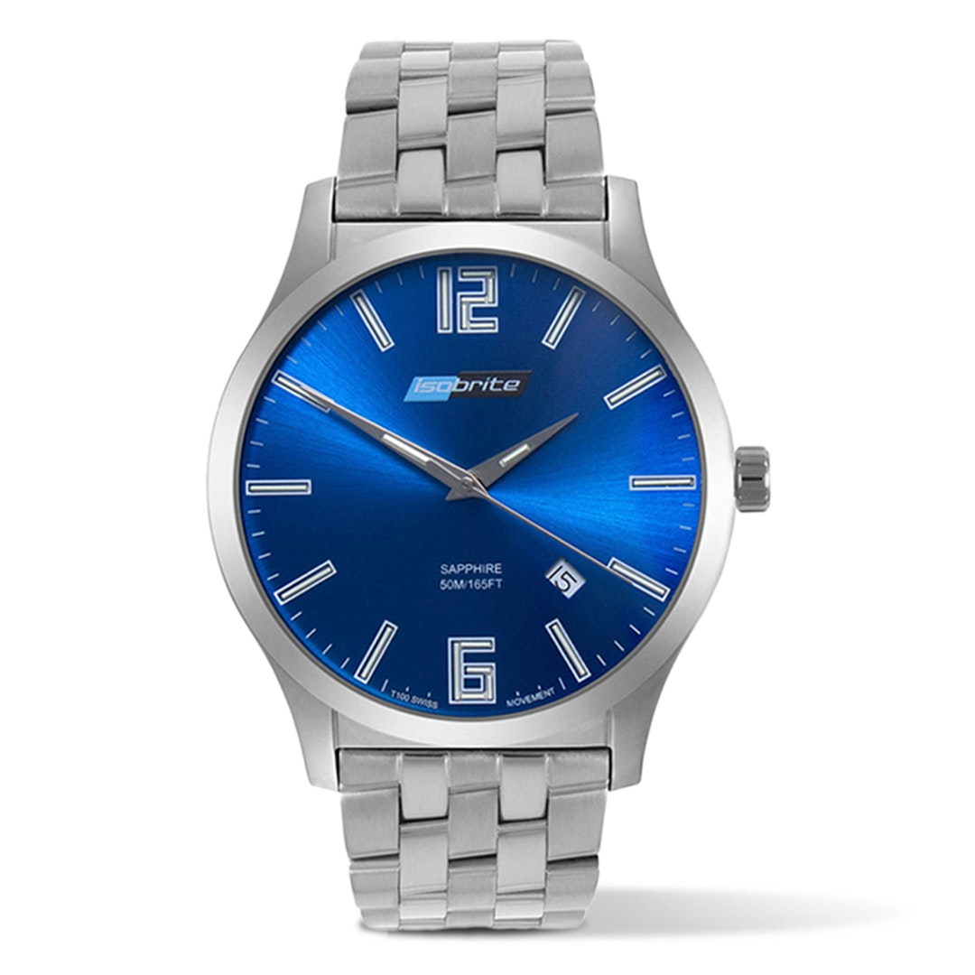 Isobrite T100 Tritium Slim Blue Watch