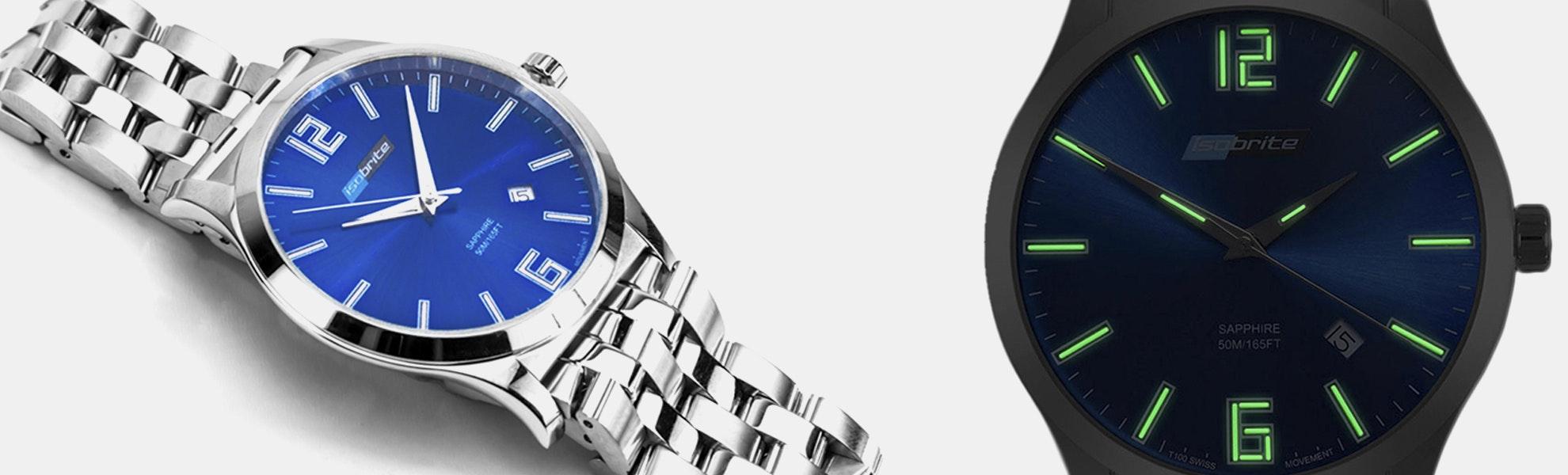 Isobrite T100 Tritium Slim Blue Watch