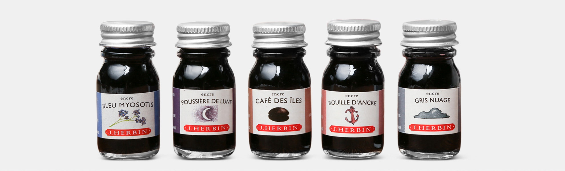 J. Herbin 10ml Bottled Inks (5-Pack)