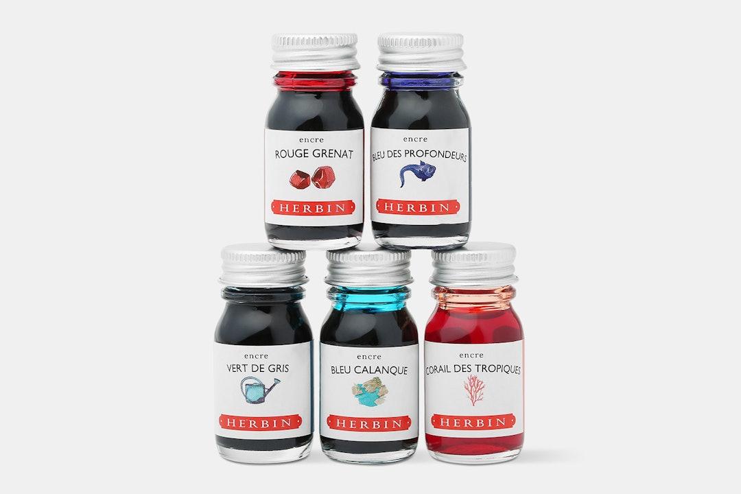 J. Herbin 10ml Bottled Inks (5-Pack)