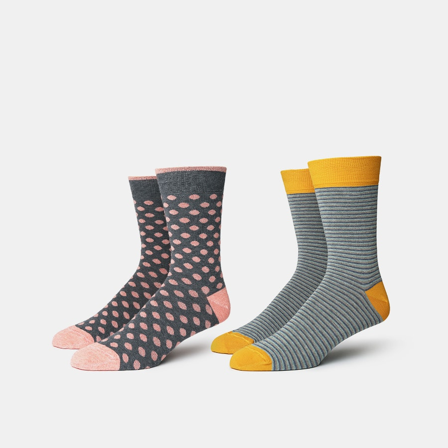 J.S. Blank Co. Cotton Cashmere Socks (2-Pack)