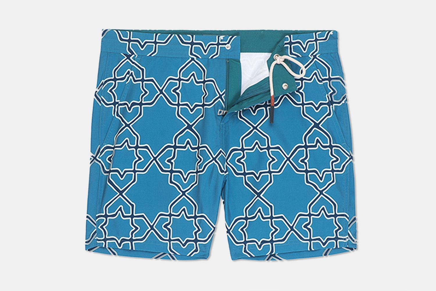 Hampton Swim Trunk – Tile Geo  (+ $12)
