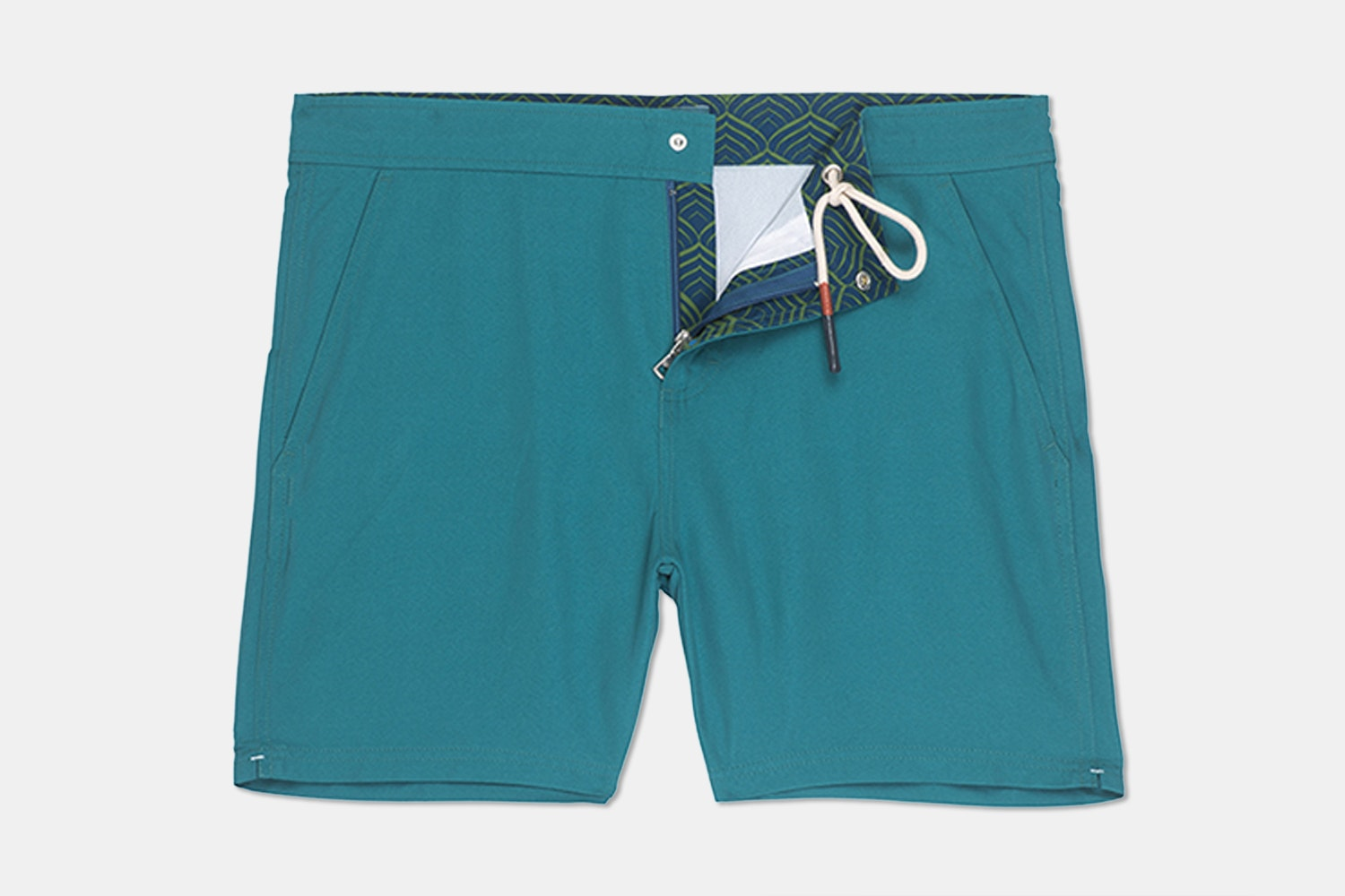 Hampton Swim Trunk – Solid Teal