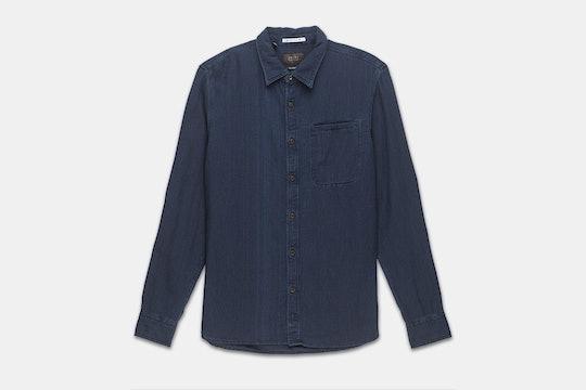 Indigo Basket Weave Shirt (+ $8)