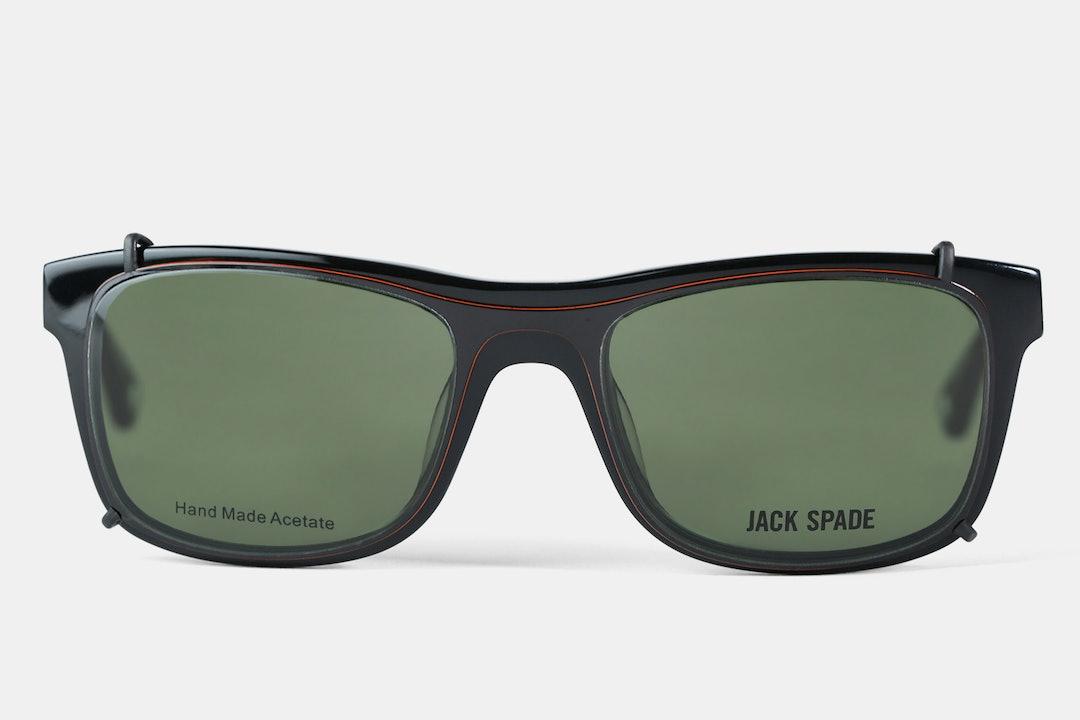 Jack Spade Walters Eyeglasses w/ Clip-On Shades