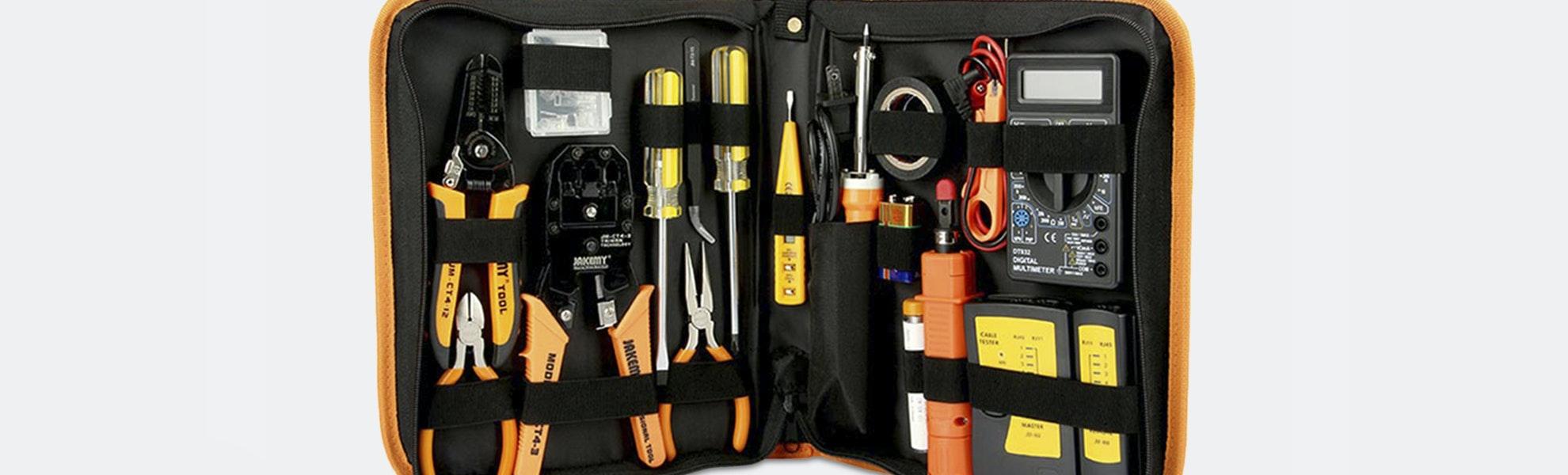 Jakemy 17-in-1 Network Repair Kit & Soldering Iron