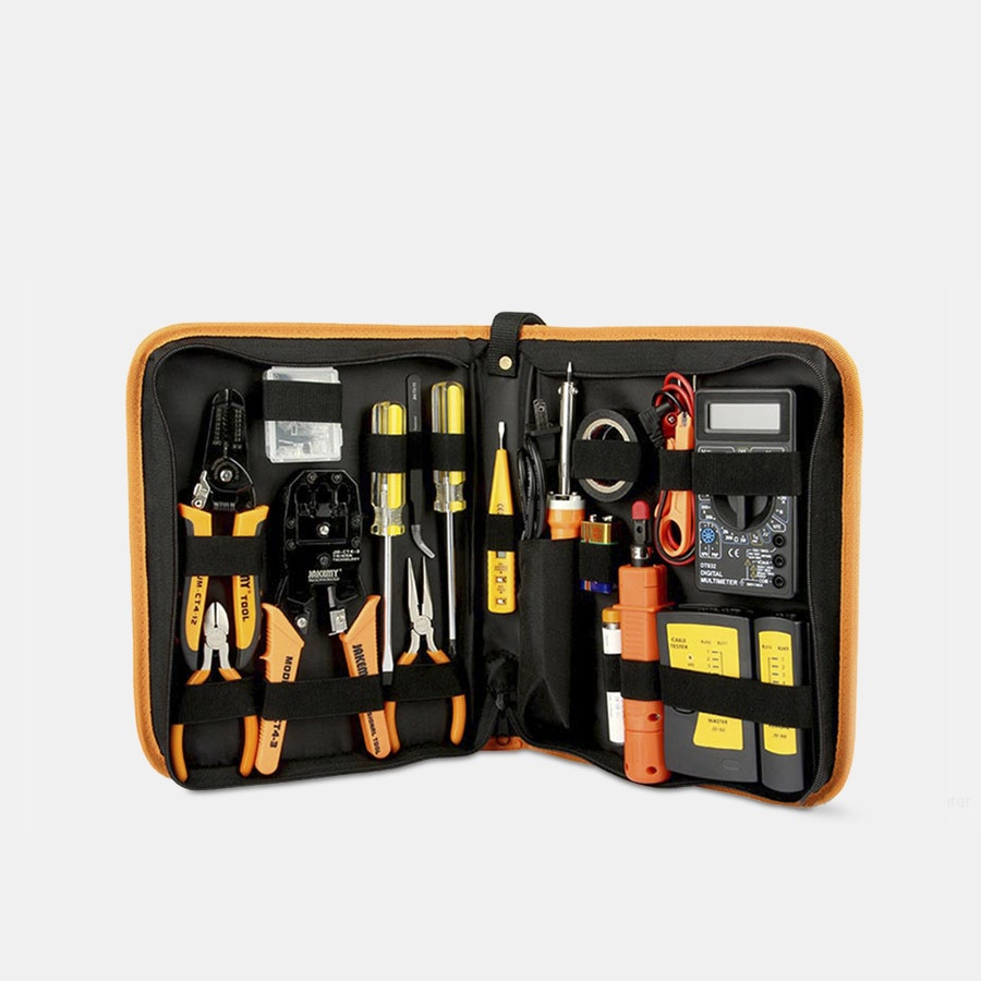Jakemy 17-in-1 Network Repair Kit & Soldering Iron