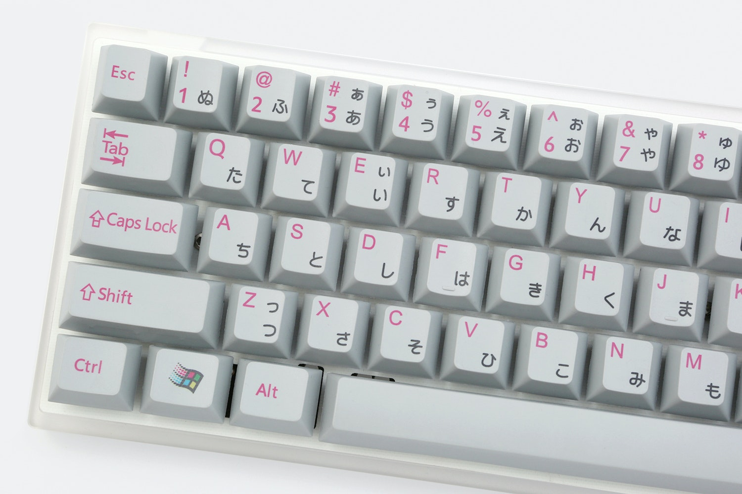 Japanese Alphabet Cherry PBT Dye-Subbed Keycap Set