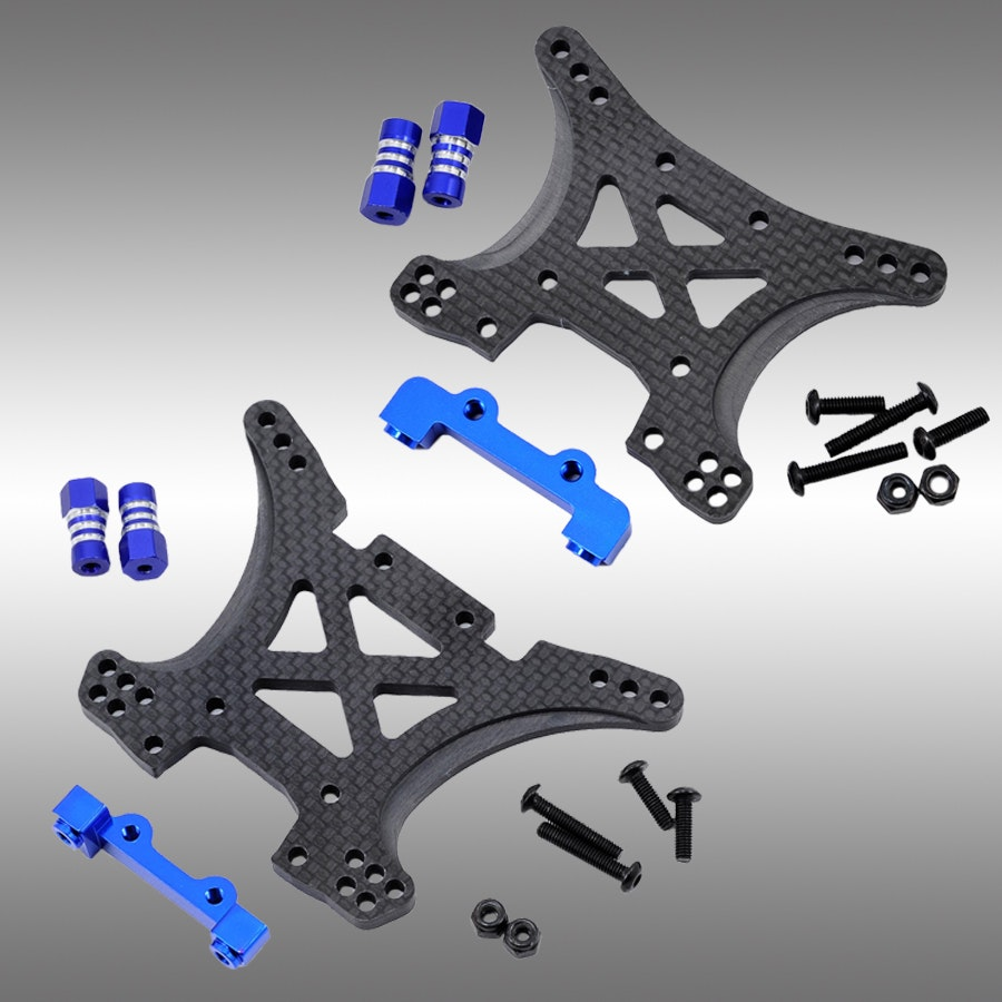 JConcepts Slash 4x4 Carbon Fiber Shock Tower Sets