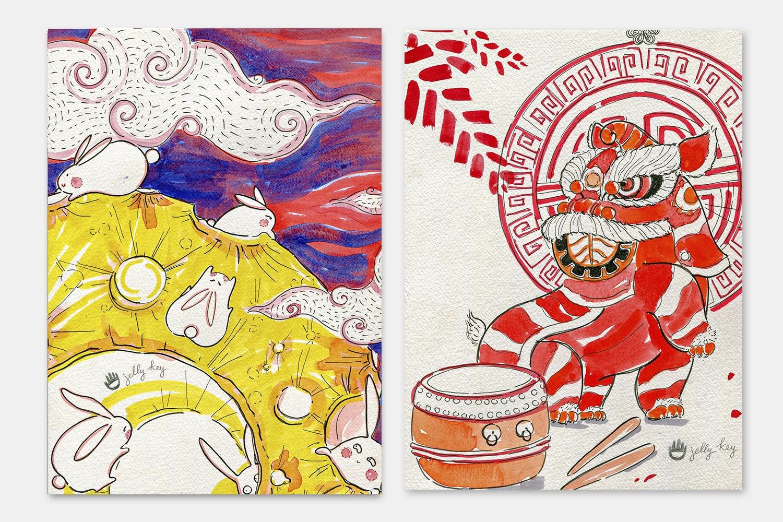 Jelly Key Autumn Festival Artisan Keycap
