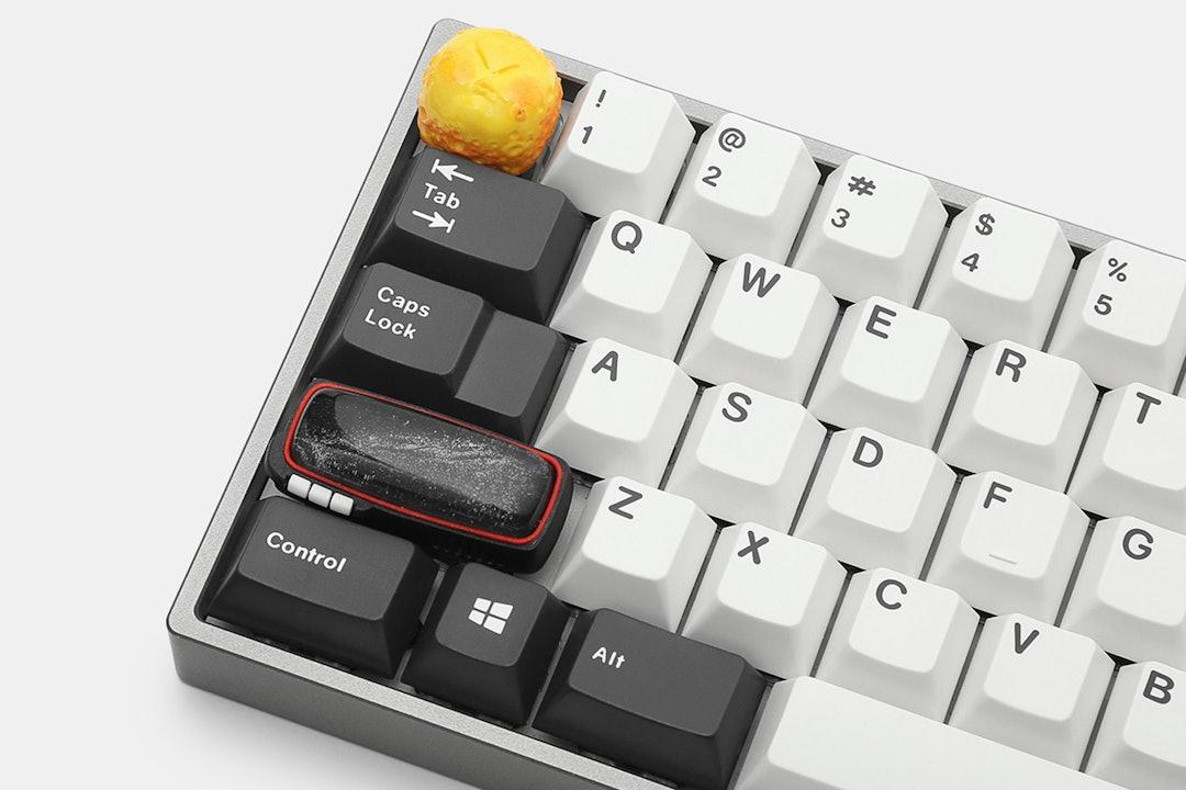 Jelly Key Blue Little Dot Enter Key Artisan Keycaps