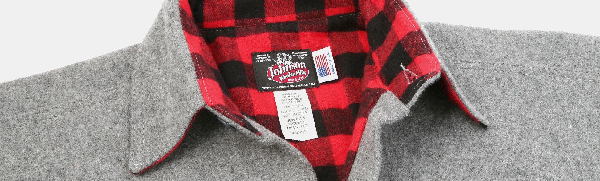 Johnson Woolen Mills Flannel-Lined Wool Shirt