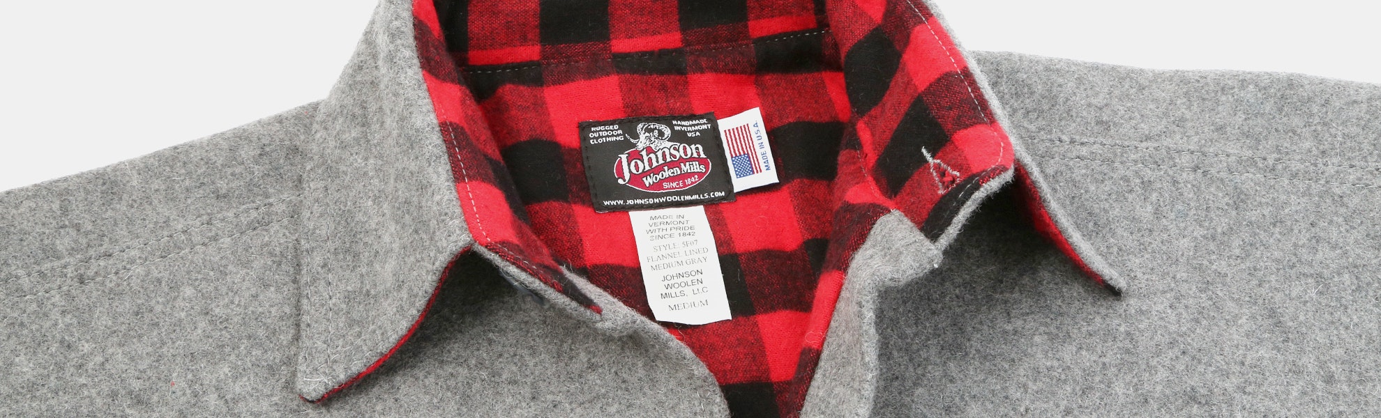 Johnson Woolen Mills Flannel-Lined Wool Shirt