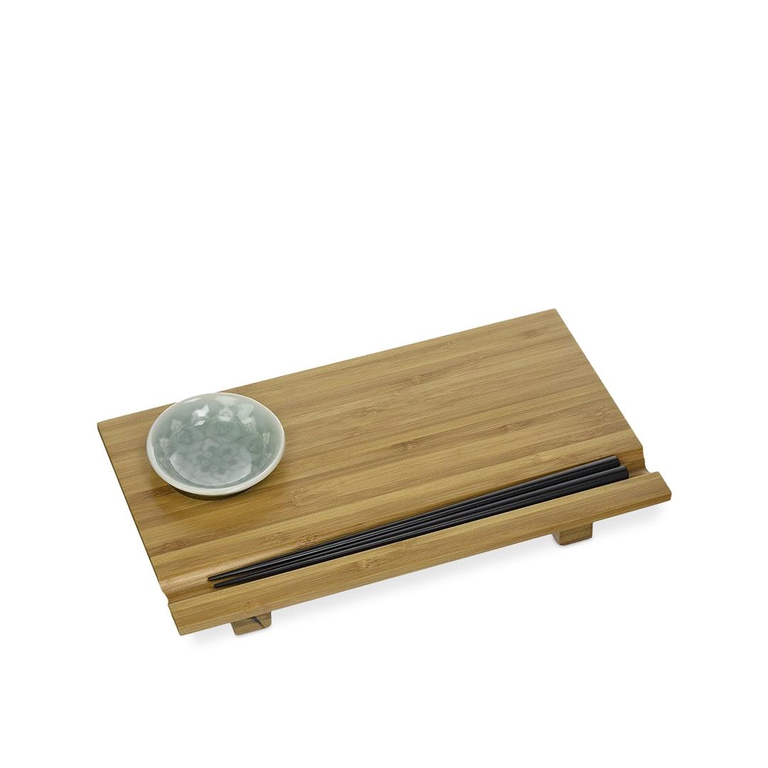 Joyce Chen Bamboo Sushi Board 3-Piece Set