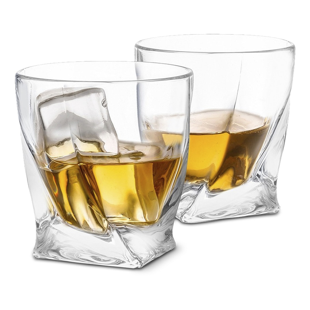 JoyJolt Atlas Whiskey Glasses (Set of 2)