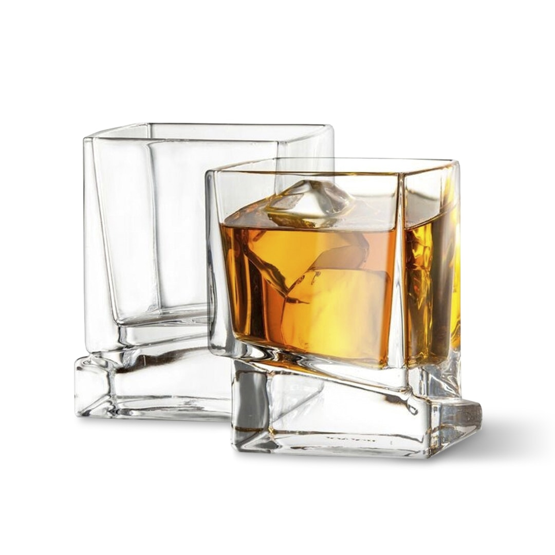 JoyJolt Carre Glasses Collection (Set of 2)