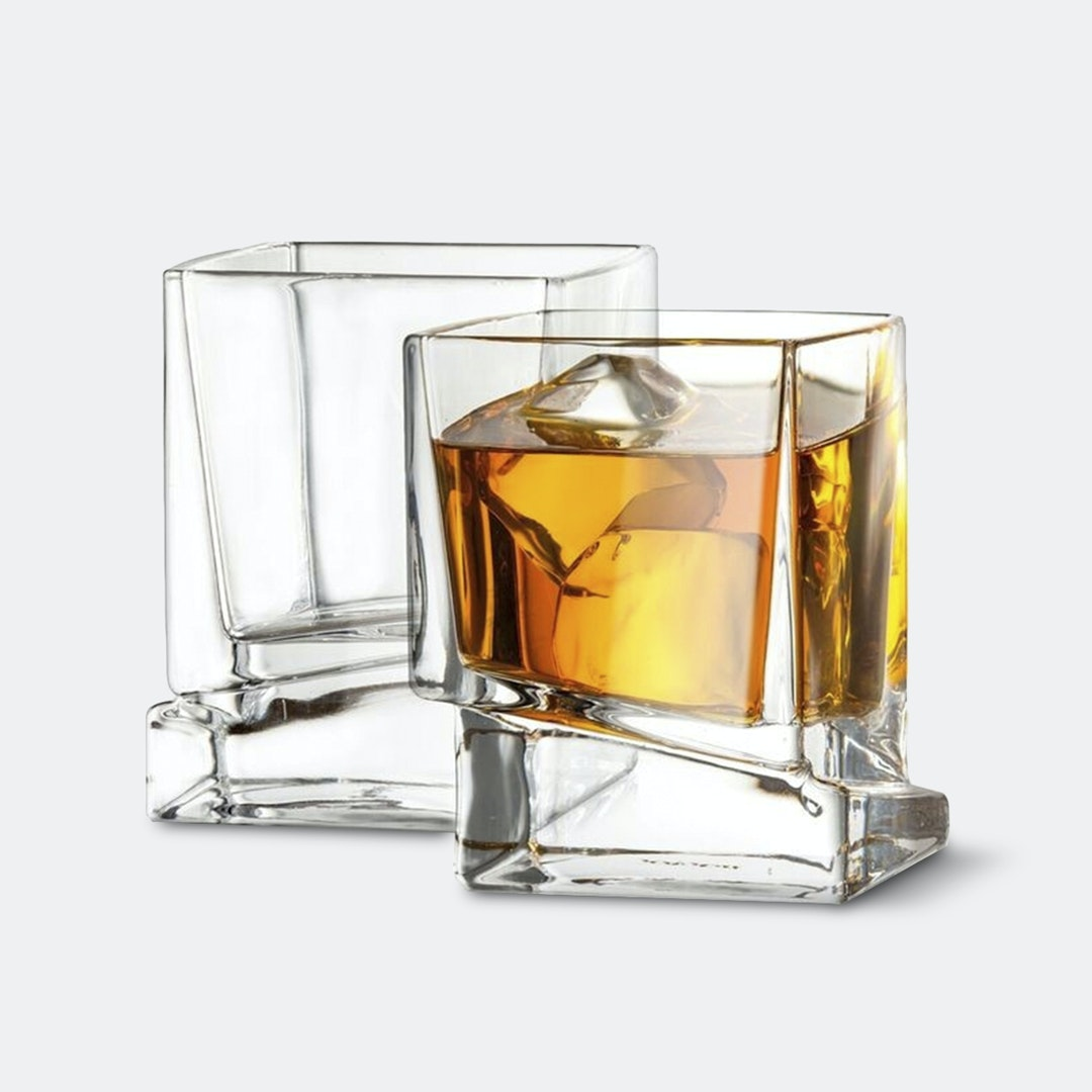 JoyJolt Carre Whiskey Glasses (Set of 2)