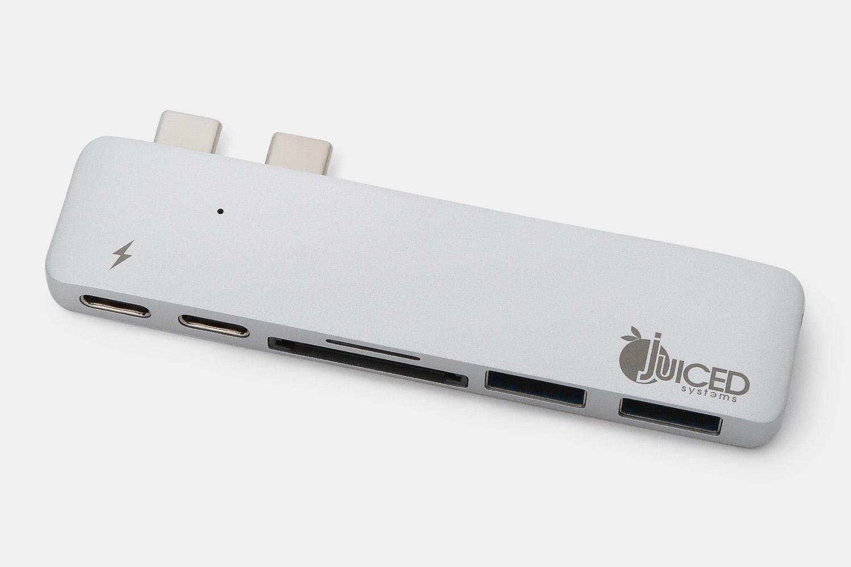 Juiced USB-C MacBook Pro 6 Port Adapter – Silver (+ $10)