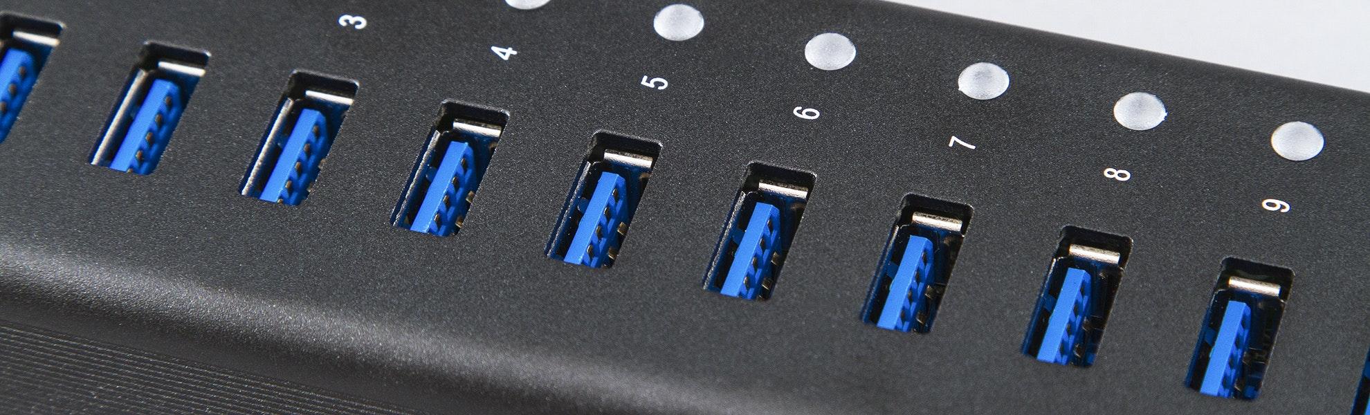 Juiced Systems USB 3.0 10-Port Hub